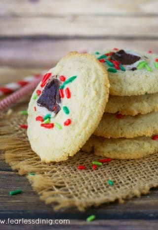 Gluten Free Minty Sugar Cookies image