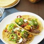 Spicy Slow Cooker Pot Roast Tacos