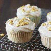 Easy Gluten Free Eggnog Cupcakes with Eggnog Frosting