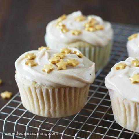 Gluten Free Eggnog Cupcakes