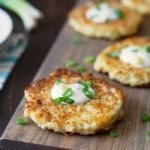 Crispy Gluten Free Cauliflower Cheddar Pancakes