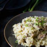 Shiitake Mushroom Cauliflower Rice Risotto