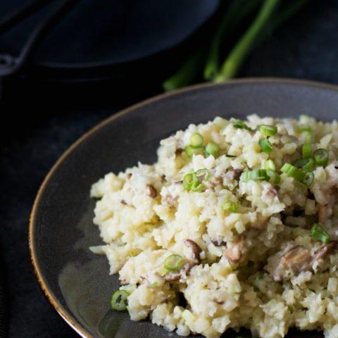 Shiitake Riced Cauliflower Risotto