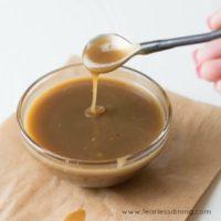 5 Ingredient Bourbon Butterscotch Sauce