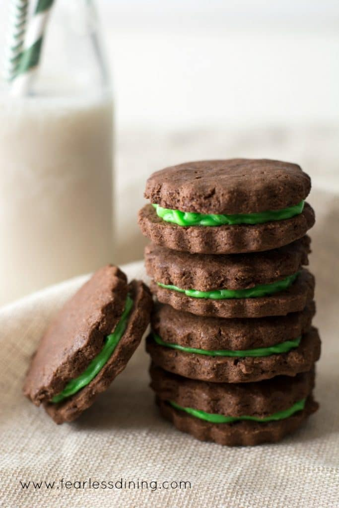 Gluten Free Chocolate Cream Filled Sandwich Cookies