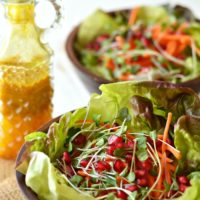 Salad with a Turmeric Vinaigrette