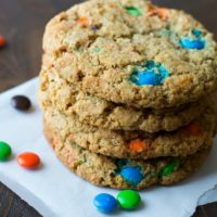 Gluten Free Monster M&M Cookies