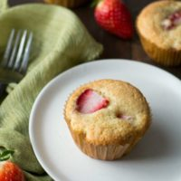 Fluffy Gluten Free Strawberry Muffins + Recipe Video