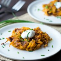 Curried Sweet Potato Hash Brown Waffles