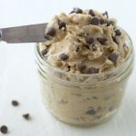 small mason jar of edible cookie dough frosting