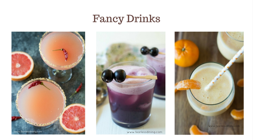 Fancy cocktails and smoothies