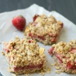 Simple Gluten Free Strawberry Oatmeal Breakfast Bars