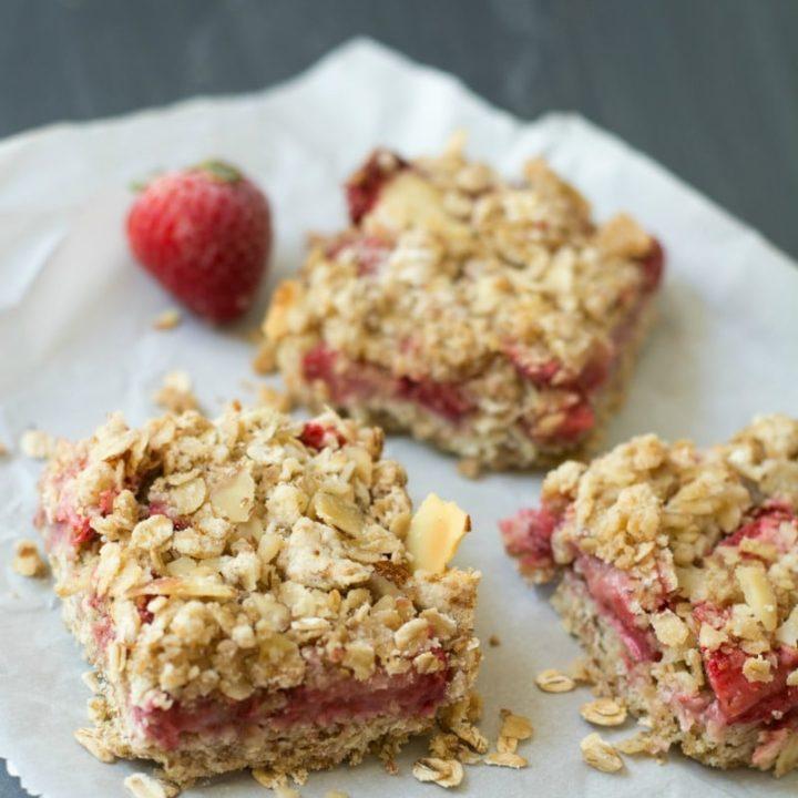 Simple Gluten Free Strawberry Oatmeal Bars