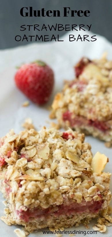gluten free strawberry bars pinterest collage