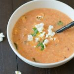 Cream of Tomato Soup with Cheddar