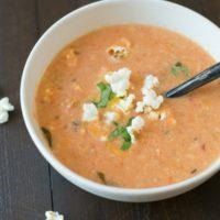 Creamy Cheddar Tomato Soup