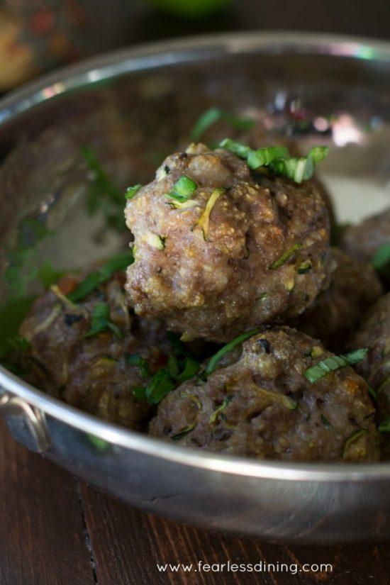 veggie packed gluten free meatballs