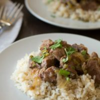 Lamb and Roasted Hatch Chile Pepper Stew