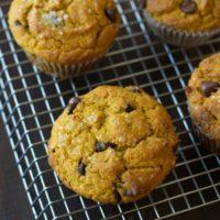 Gluten Free Easy Pumpkin Chocolate Chip Muffins