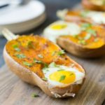 Paleo Baked Eggs Breakfast - eggs baked in honeynut squash