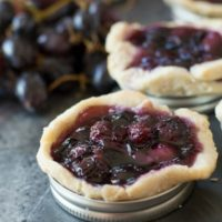 Gluten Free Black Grape Galettes