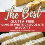a pinterest collage of biscotti photos