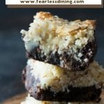 a pinterest collage pin of the almond joy bars photo