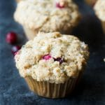 Yummy Gluten Free Cranberry Muffins with White Chocolate Chips