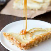 Gluten Free Vanilla Custard Caramel Apple Tart