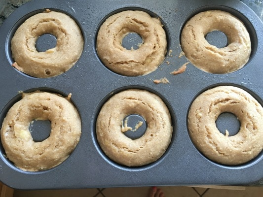 baked gluten free donuts in a pan