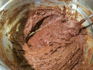 the devil's food cake batter in a bowl