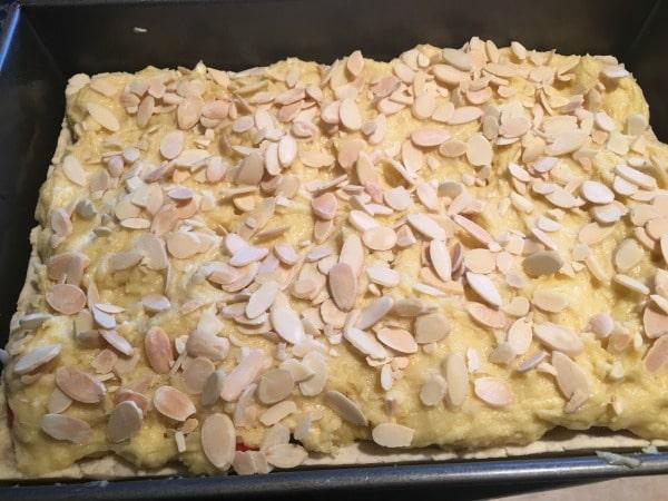 Bakewell tart ready to bake