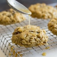 Gluten Free Oatmeal Raisin Cookies with Irish Cream Icing