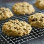 Gluten Free Oatmeal Raisin Cookies with Irish Cream Glaze