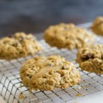 Gluten Free Oatmeal Raisin Cookies with Irish Cream Icing