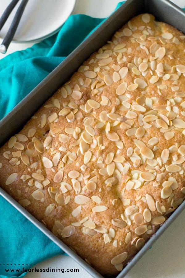 Easy Gluten Free Strawberry Lemon Bakewell tart image