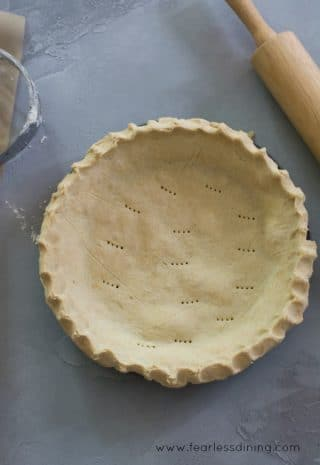 How to Make a Homemade Gluten Free Pie Crust image