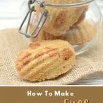a pinterest collage photo of butterscotch madeleines