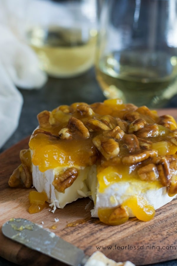 How to make a fruit topped Brie Appetizer image