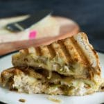 Tuna Melt Panini with Grilled Onion and Hatch Chile