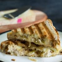 Tuna Panini with Grilled Onion and Hatch Chile