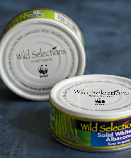 Two cans of Wild Selections tuna