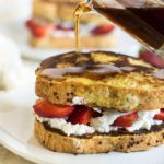 Gluten Free Vanilla Bean Ricotta Strawberry Stuffed French Toast