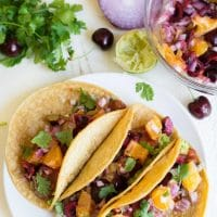 Easy Duck Tacos with Cherry Orange Salsa