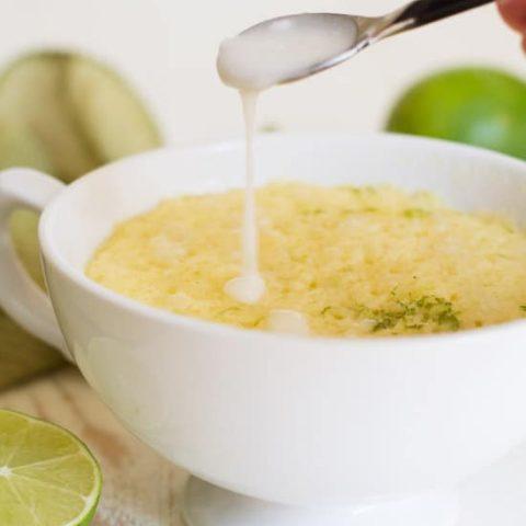 Gluten Free Dairy Free Lime Mug Cake