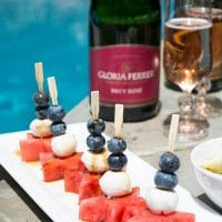 Red, White, and Blue Watermelon Appetizers