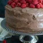 Gluten Free Chocolate Raspberry Layer Cake