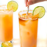 Passion Fruit, Orange, and Guava Rum Cocktail