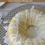 a pinterest collage photo of the lemon bundt cake