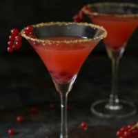 Red Currant Margarita with Ginger Sugar